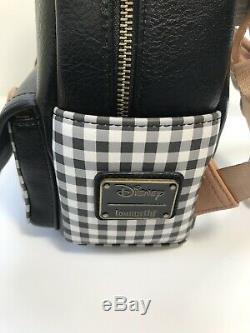 Disney Loungefly Classic Winnie The Pooh Black Plaid Mini Backpack