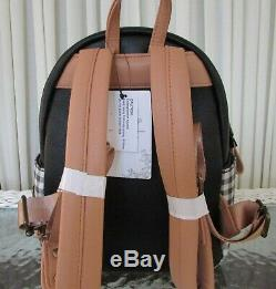 Disney Loungefly Winnie the Pooh Mini Backpack Plaid & Cardholder NWT