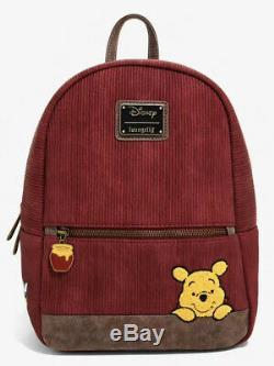 Disney Loungefly Winnie the Pooh Mini Corduroy Backpack Bag NWT