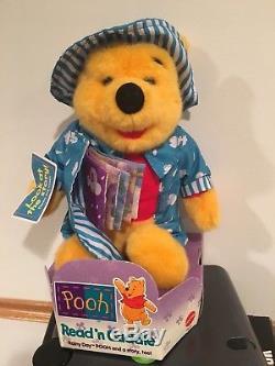 Disney Mattel 12 Winnie the Pooh Pooh's Colorful Rainy Day Plush New Rare