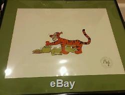 Disney Original Production Cel Art Winnie the Pooh Tigger and Rabbit