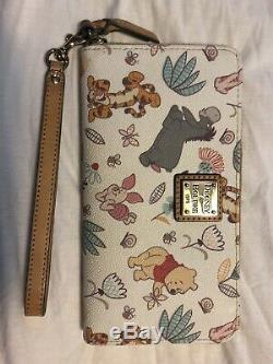 Disney Parks Dooney & Bourke Winnie The Pooh Wallet Wrislet Tigger Eeyore & PALS
