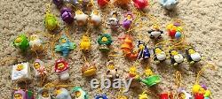 Disney Peek A Pooh Lot of 70 Figurines Phone Charms Winnie The Pooh