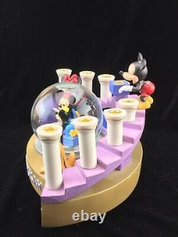 Disney Porcelain Mickey Mouse Menorah With Snow Globe Hanukkah Candle Holder