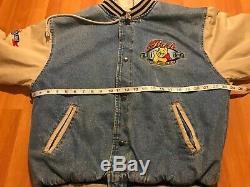 Disney Rare Vintage Winnie The Pooh Denim Jean Jacket Medium M Varsity 90s