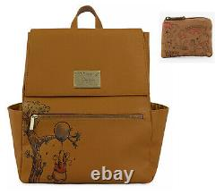 Disney Store Classic Winnie the Pooh Balloon Backpack Bag & Loungefly Coin Purse
