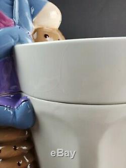 Disney Store Europe Eeyore MILK AND COOKIES Cookie Jar Winnie The Pooh RARE