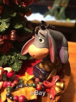 Disney Store Winnie The Pooh And Friends Music Box Christmas Tree Figurine