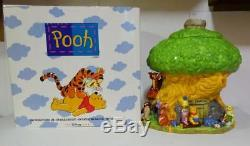 Disney Store Winnie The Pooh Mr Sanders Tree House Cookie Jar Mint In Box
