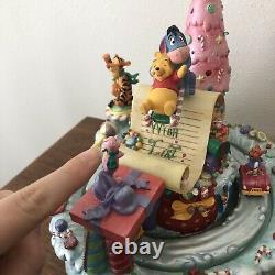 Disney Store Winnie The Pooh Music Box Christmas Wish List Musical Piglet