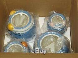 Disney Store Winnie the Pooh Peek a Boo Blue Canister Set NEW in BOX