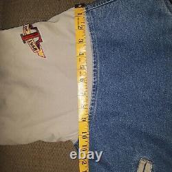Disney Store Winnie the Pooh TIGGER Denim Khaki Varsity Jacket Vintage