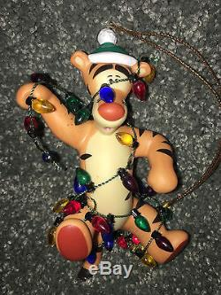 Disney TIGGER Winnie The Pooh CHRISTMAS ORNAMENT Porcelain LIMITED Vintage NEW