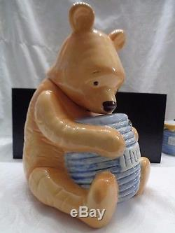 Disney Treasure Craft Winnie The Pooh Cookie Jar and Honey Pot SO CUTE