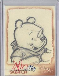 Disney Treasures Winnie the Pooh Sketch Card Extremely Rare numbered 12/12