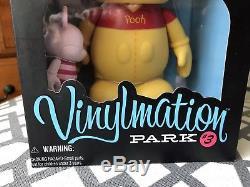 Disney Vinylmation 9 & 3 WINNIE THE POOH & PIGLET Park 3 LE 500 SEALED NIB