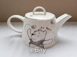 Disney/Whittard Of Chelsea Winnie The Pooh Teapot & 4 Mugs NEW