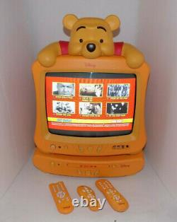 Disney Winnie The Pooh 13 inch CRT TV with DVD Player and Remotes