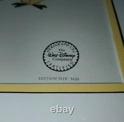 Disney Winnie The Pooh Cast Limited Edition Serigraph Cel Wall Art Picture