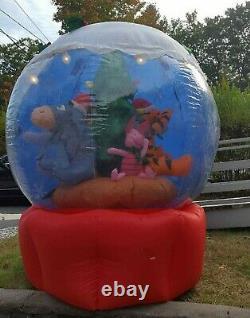 Disney Winnie The Pooh Christmas Inflatable Snowglobe Gemmy