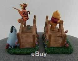 Disney Winnie The Pooh & Friends Tigger Piglet Eeeyore Bookends Bridge Fishing