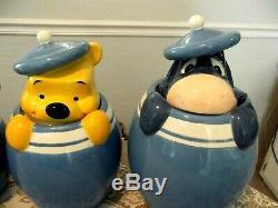 Disney Winnie The Pooh & Friendsfull Set Of Ceramic Cookie Jarspeek A Boo