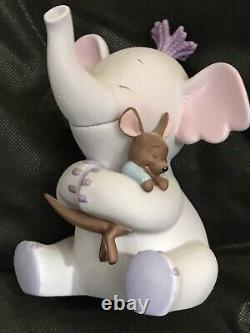 Disney Winnie The Pooh Heffalump And Roo Hugging Porcelain Figure