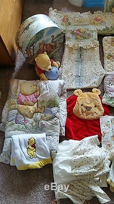 Disney Winnie The Pooh Nursery Set Complete With Additional Items
