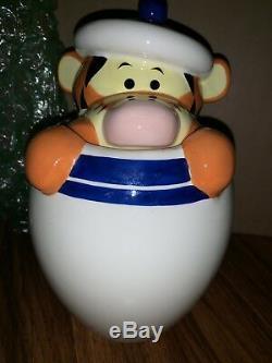 Disney Winnie The Pooh Peek-A-Boo Canister Eeyore Tigger Piglet Cookie Jar