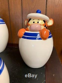 Disney Winnie The Pooh Peek-A-Boo Canister Set of 4 Eeyore Tigger Piglet RETIRED