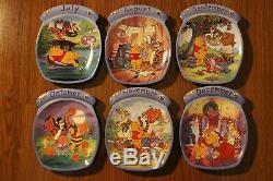 Disney Winnie The Pooh Perpetual Wooden Wall Calendar. Bradford Exchange