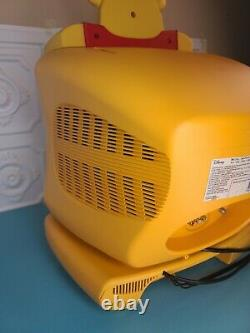 Disney Winnie The Pooh TV CRT 13 & DVD Player Yellow Combo Set WORKS SEE VIDEO