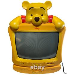 Disney Winnie The Pooh Tube TV CRT 13 & DVD Player Yellow Combo Set (2005)