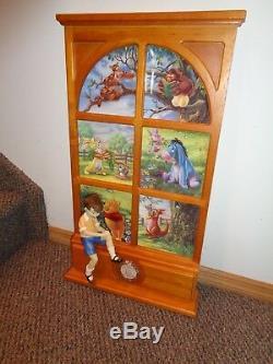 Disney Winnie the Pooh Bradford Exchange Christopher Robin Display NEW Condition