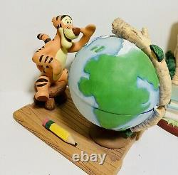 Disney Winnie the Pooh Desk Set of 8 Pooh Tigger Piglet Owl Eeyore Rabbit Rare