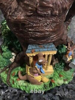 Disney Winnie the Pooh Double Bubble Musical Snow GlobeRare Christopher Robin