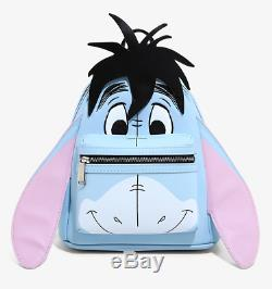 Disney Winnie the Pooh EEYORE Loungefly Mini Backpack Bag & Cosmetic Case NEW