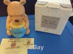 Disney Winnie the Pooh &Honey Pot withHidden Watch Figurine Vintage 1087/5000