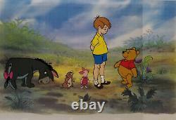 Disney Winnie the Pooh, Piglet, Eeyore, Gopher, Christopher Original Model Cel