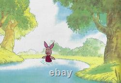 Disney Winnie the Pooh- Piglet Original Production Cel with Matching Drawing
