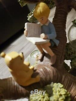 Disney Winnie the Pooh Tree with Multiple Mini Snow Globes 75th Anniversary