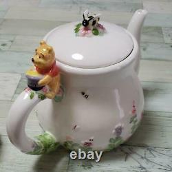 Disney Winnie the Pooh tea pot set (extra large pot) 1L rare No BOX 88