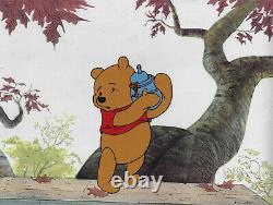 Disney Winnie the Pooh with Honey Pot Original Production Cel
