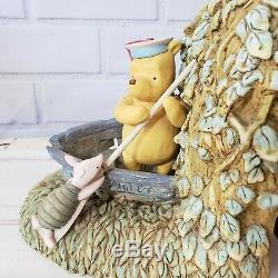 Disney's Classic Winnie the Pooh Piglet Tigger Rowboat Bookends Charpente Rare