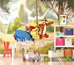 Disney wall mural wallpaper children's bedroom Winnie The Pooh PREMIUM green