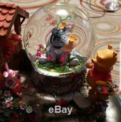 Disney winnie the pooh Eeyore Garden Snow Globe. Extremely rare