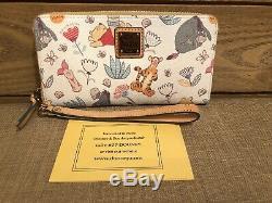 EUC Disney Dooney & Bourke Winnie The Pooh Wallet Wrislet Tigger Eeyore & PALS