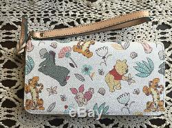 EUC Disney Dooney & Bourke Winnie The Pooh Wallet Wrislet Tigger Eeyore & PALS A
