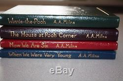 Easton Press A. A. Milne Four Book Collection Winnie the Pooh Now We Are Six