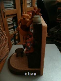 Extremely Rare! Walt Disney Winnie The Pooh Home Figurine Bookends Statue Set